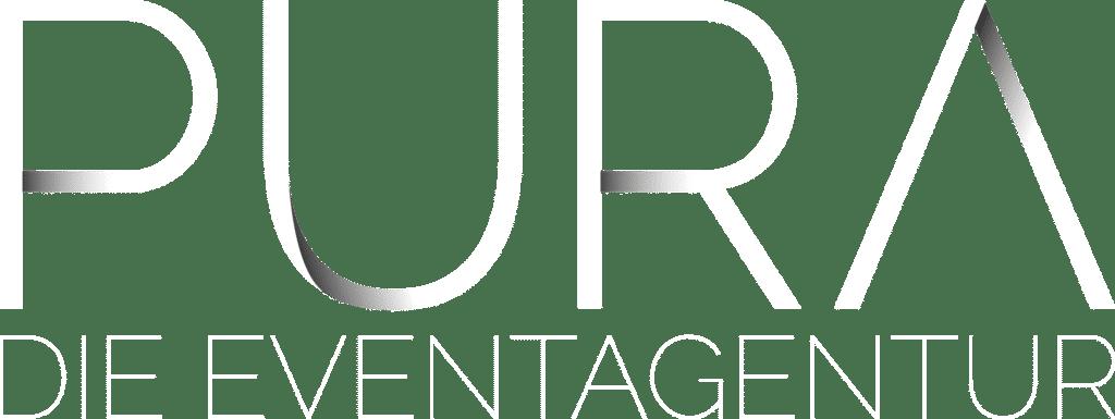 White Pura Logo Eventagentur